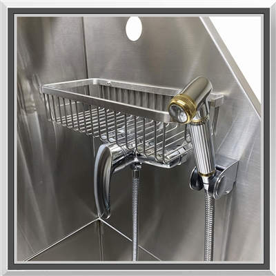 Professional Tub Kit Faucet Sprayer Shampoo Rack